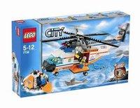 LEGO City 7738 Helikopter der Küstenwache mit Rettungsinsel