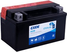 Exide Bike AGM YTX7A-BS