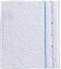Vossen Quadrati Seiftuch weiß/bleu (30 x 30 cm)