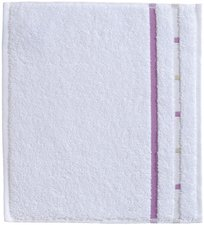Vossen Quadrati Seiftuch weiß/violett (30 x 30 cm)