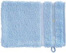 Vossen Quadrati Waschhandschuh weiß/bleu (16 x 22 cm)