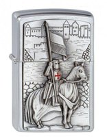 Zippo Crusader with Horse & Flag