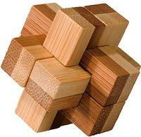 Fridolin IQ-Test - Puzzle aus Bambus - Block-Kreuz (17468)