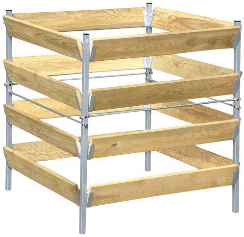 Bellissa Holz-Komposter 90x90x90 cm