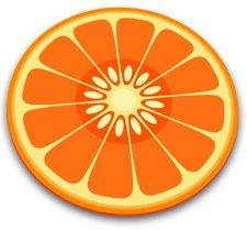 Joseph Joseph Glas-Schneidebrett Orange