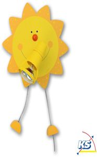 Waldi Wandlampe Sonne 1-flg.