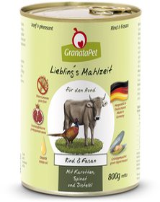 GranataPet Liebling's Mahlzeit Rind & Fasan 800 g