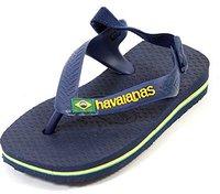Havaianas Baby Brasil logo navy blue
