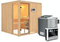 Karibu Helin ohne Dachkranz 9 kW Bio-Ofen