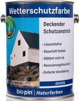 biopin Wetterschutzfarbe 2,5 l (verschiedene Farben)