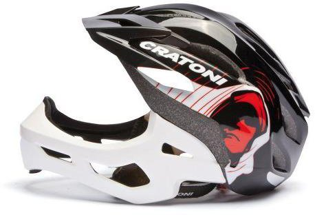 Cratoni C-Maniac schwarz-weiß glänzend