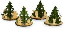 Small Foot Design Weihnachtsschmuck Tannenbaum (4er Set)
