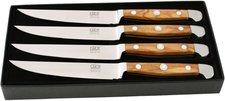 Franz Güde Alpha Olive Steakmesser Set 4 tlg. 12 cm
