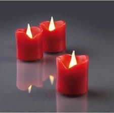 Hellum LED-Wachskerzen rot 6er-Set (4,2 cm)