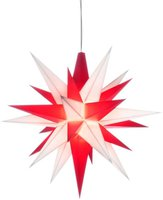 Herrnhuter Sterne Weihnachtsstern weiß rot (13 cm)