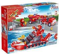 Banbao Feuerwehr - Feuerwehrwagen und Schiff (8312)