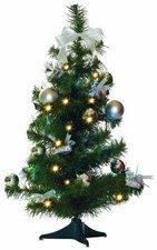 Best Season LED Weihnachtsbaum geschmückt 60 cm silber
