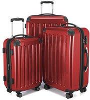 Hauptstadtkoffer 4-Rollen-Hartschalen-Trolley-Set 3-tlg. 55/63/75 cm rot TSA