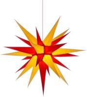 Herrnhuter Sterne Stern gelb rot Innenbereich (70 cm)