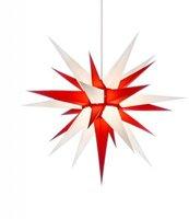 Herrnhuter Sterne Stern weiß rot Innenbereich (70 cm)