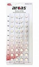 arcas Alkaline Knopfzellensortiment, 40 teilig