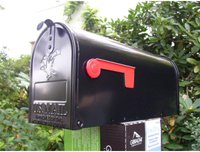Karibu Elite US-Mailbox schwarz