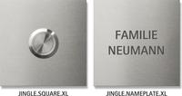 Keilbach Klingelplatte quadratische Form (08 1010)