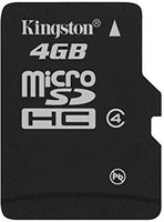 Kingston microSDHC 4GB Class 4 ( SDC4/4GBSP)