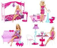Barbie Geschenkset Möbel & Puppe - Badezimmer (Y2856)