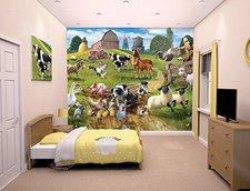 Walltastic Farmyard Fun Designer Fototapete