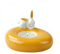 Goebel Bunny de luxe Orange Sunrise Teelichthalter
