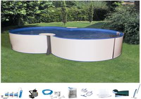my pool Premium Achtformbecken-Set 525 x 320 x 135 cm