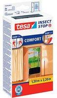 Tesa 55389-21 Fliegengitter Comfort für Türen anthrazit (2 x 65 x 220 cm)