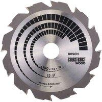 Bosch Kreissägeblatt 190 mm Construction Wood (2 608 640 633)
