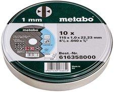 Metabo Inox Trennscheiben 115x1,0 10 Stk in Blechdose (6.16358.00)
