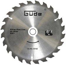 Güde HM-Sägeblatt 254 x 30 mm 24Z (55163)