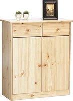 Steens Furniture Ltd Mario 027-01/19 Highboard natur lackiert 2 Schubladen 2 Türen