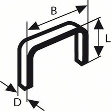 Bosch Tackerklammern Typ 53 11,4x6mm (2609200209)