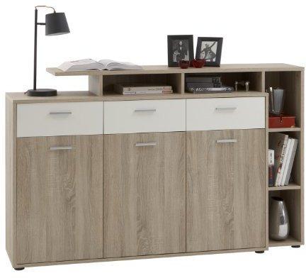 FMD Möbel Sideboard Comida 2 Zwetschge / weiß (174,0 x 110,0 x 40,0 cm)