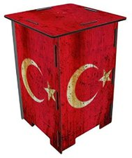 Werkhaus Photohocker Flagge Türkei (SH 8147)