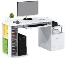 SixBros. Computertisch Hochglanz Weiß (S-202A/732)