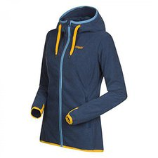 Bergans Cecilie Fleece Jacket Dark Steel Blue / Sunflower / Glacier