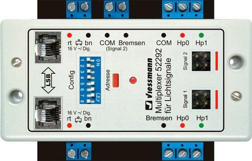 Viessmann Doppel-Multiplexer für 2 Lichtsignale mit Multiplex-Technologie (52292)