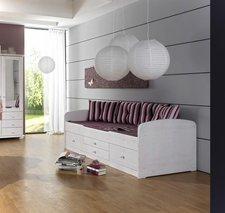 Dolphin Furniture Kojenbett mit Schubladenauszug weiß lasiert