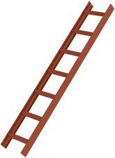 Steigtechnik Aluminium-Dachleiter, Farbe-Rotbraun, 15 Sprossen, Leiterlänge 420 cm