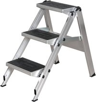 Krause Klapptreppe ohne Bügel 2 Stufen Arbeitshöhe 245 cm