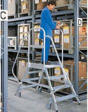 Steigtechnik Aluminium-Podestleiter beiseitig begehbar 8 Stufen Arbeitshöhe 270 cm