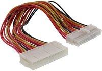InLine Strom Verlängerung intern, 24pol Stecker / Buchse, Netzteil zu Mainboard, 0,2m (26629K)