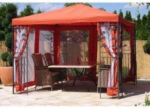 Grasekamp Seitenwand Set Pavillon Blätter 3 x 3 m