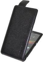 SunCase Flip-Style Vollnarbig Schwarz (Sony Xperia Z)
